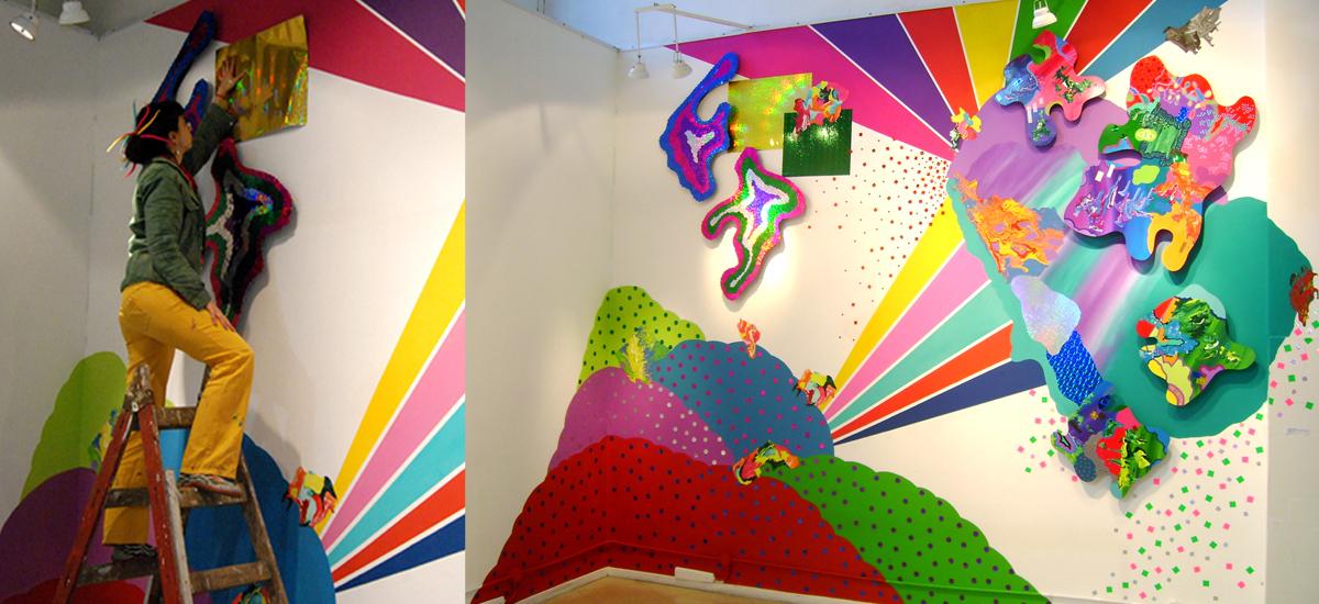 El universo como un holograma- Instalación Mural